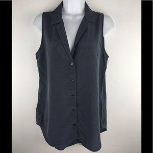 Equipment Adalyn Sleeveless Polka Dot Silk blouse